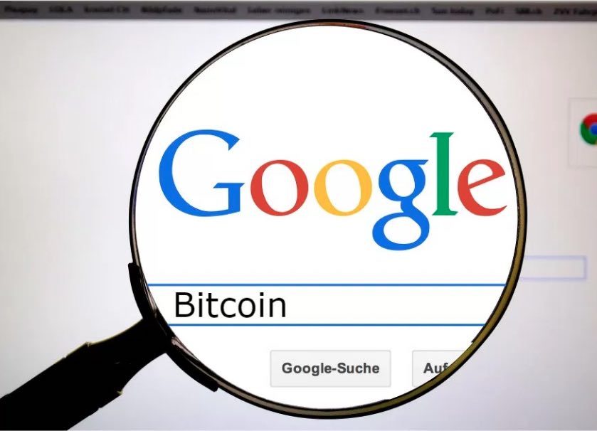 Between bitcoin google searches